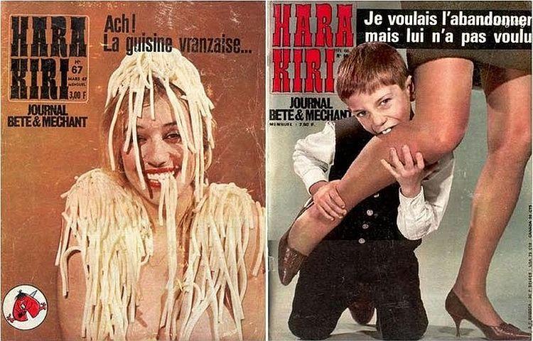 OMG of the day. Covers of Hara-Kiri magazine - 01