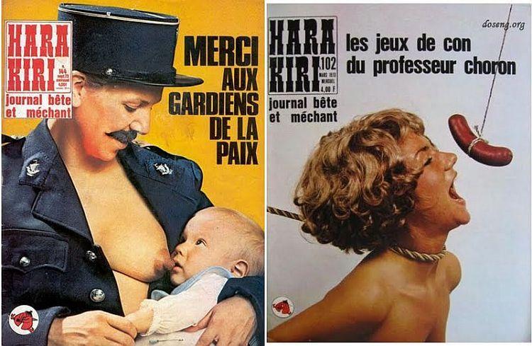 OMG of the day. Covers of Hara-Kiri magazine - 02