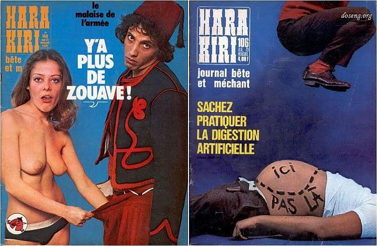 OMG of the day. Covers of Hara-Kiri magazine - 03