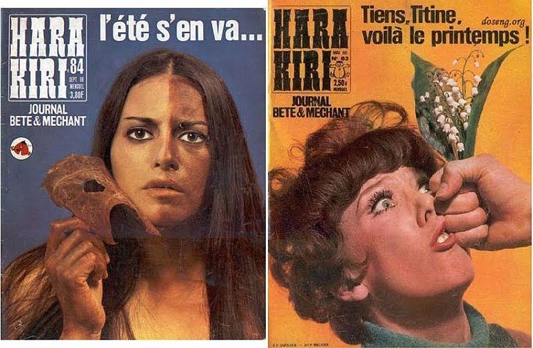 OMG of the day. Covers of Hara-Kiri magazine - 07