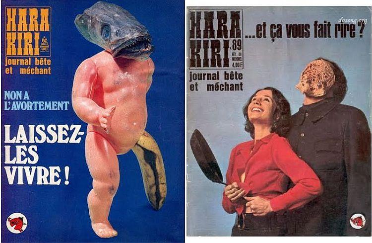 OMG of the day. Covers of Hara-Kiri magazine - 08