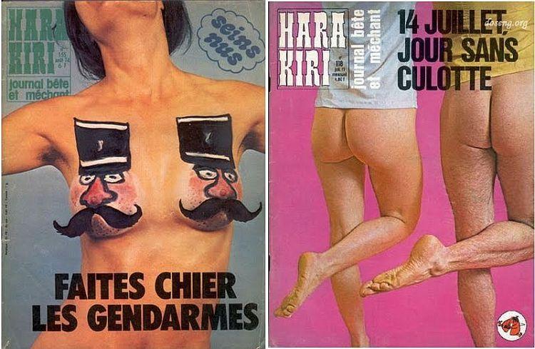 OMG of the day. Covers of Hara-Kiri magazine - 11