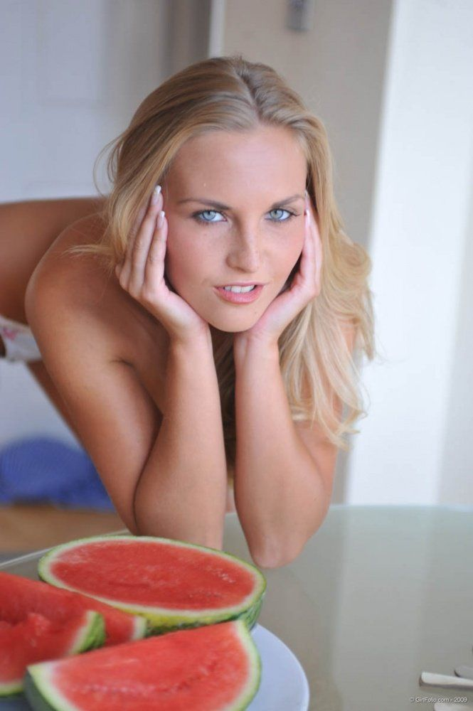 Chikita and a watermelon. Very erotic - 06