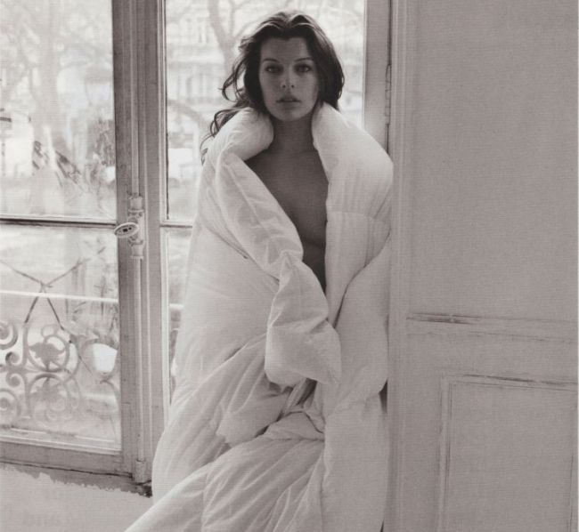 Nude Milla Jovovich in Purple Magazine - 00