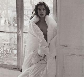 Nude Milla Jovovich in Purple Magazine