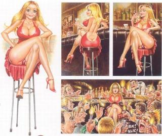 A selection of erotic comics about blonde Dolly