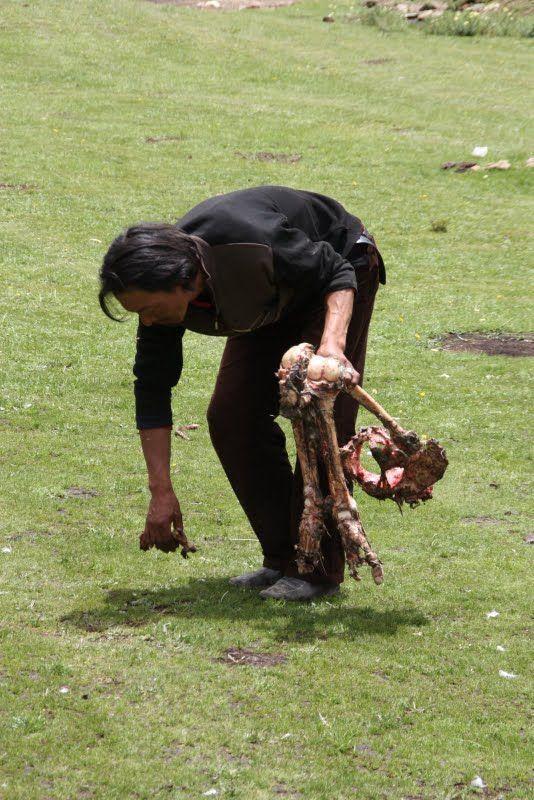 Burials in Tibet. NOT FOR SENSITIVE SOULS! - 40