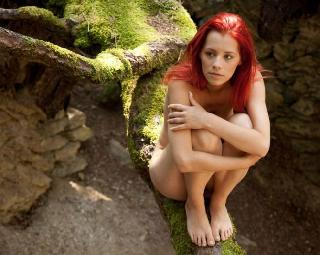 Delightful red-headed girl Ariel