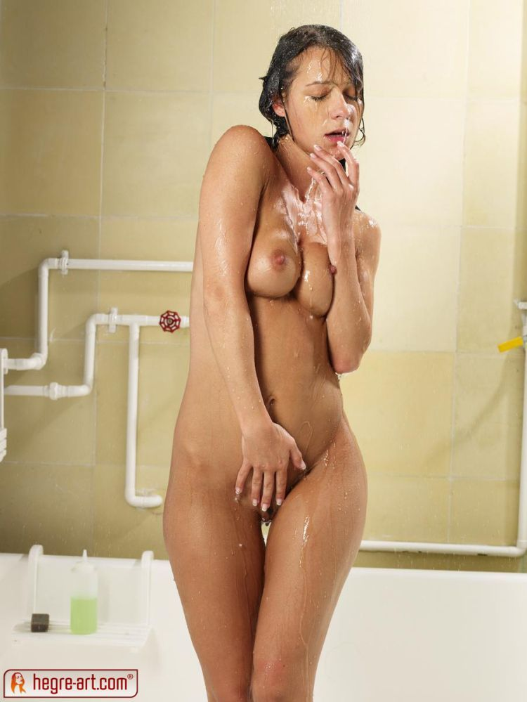 Melisa Takes Shower Voyeurweb 1