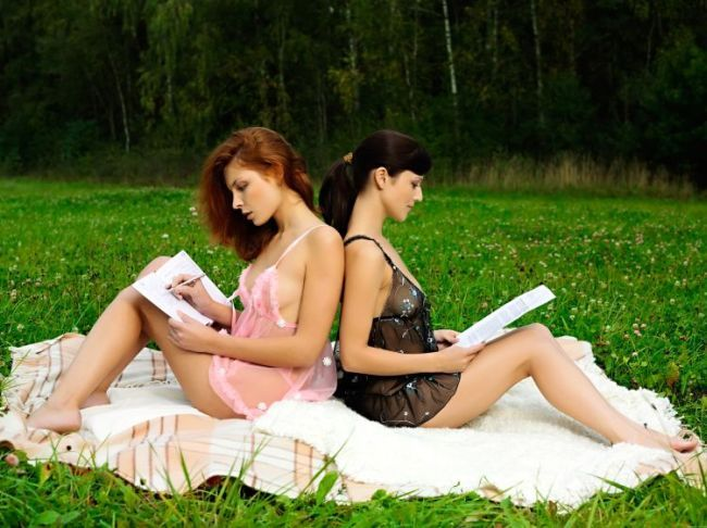 Two beauties decided to have some fun outdoors - 00