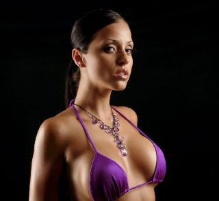 Hot Latina girl with athletic body