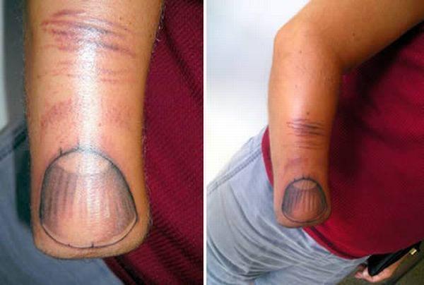 Horrible, original and creative amputee tattoos - 00