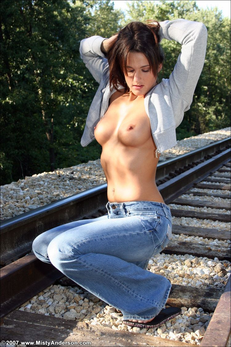 Gorgeous Misty Anderson on rails - 06