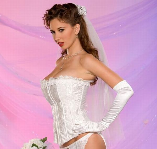Shay Laren in sexy bridal outfit - 00