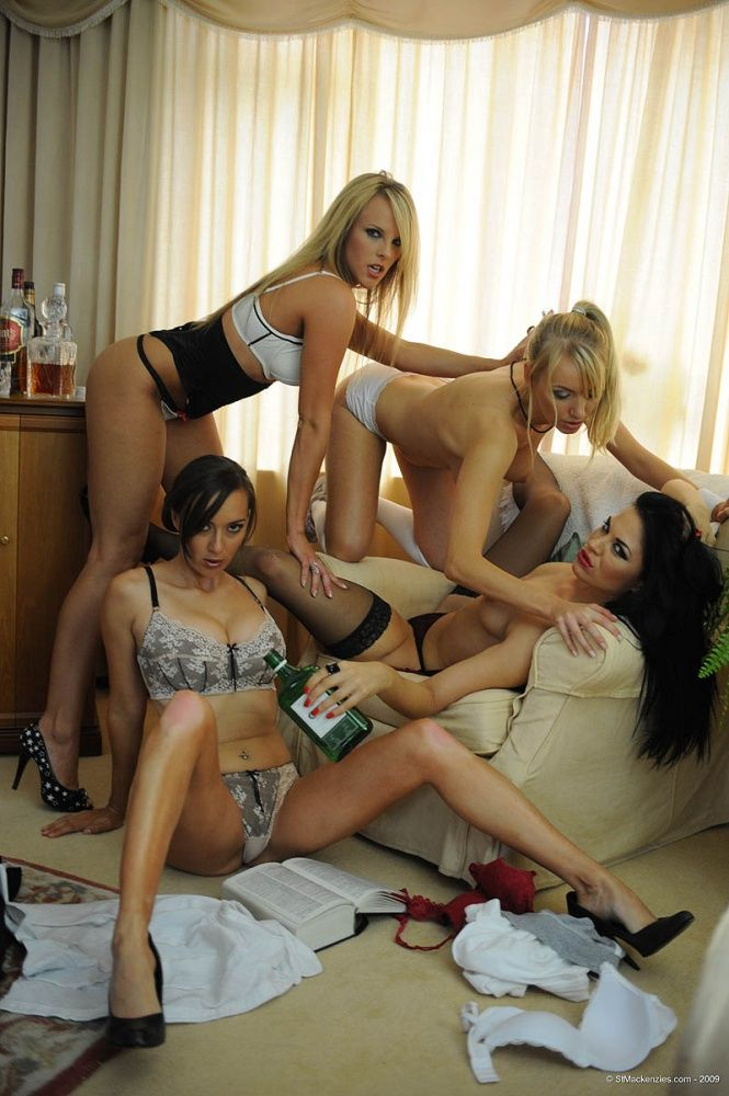 Four hot muchachas arranged a party - 07