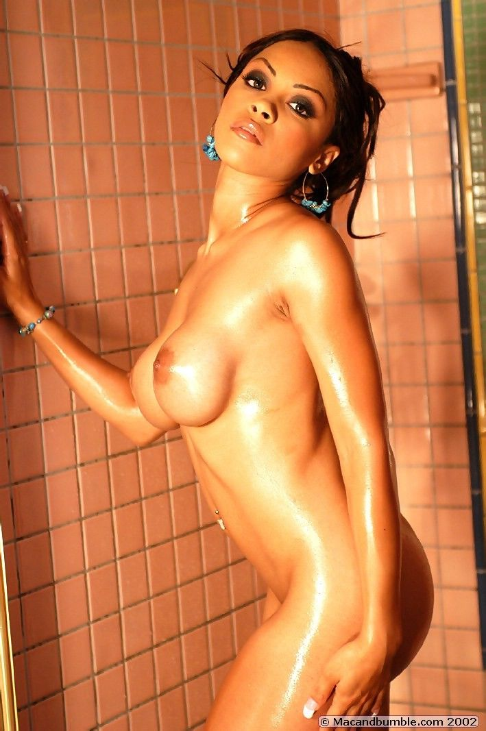 Hot babe Mischa posing in the shower - 13