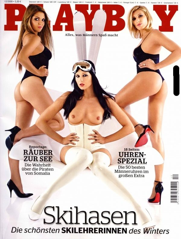 German female skiers in PLAYBOY - 01