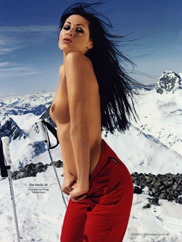 German female skiers in PLAYBOY - 03