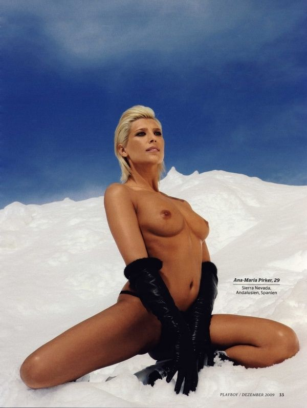 German female skiers in PLAYBOY - 05