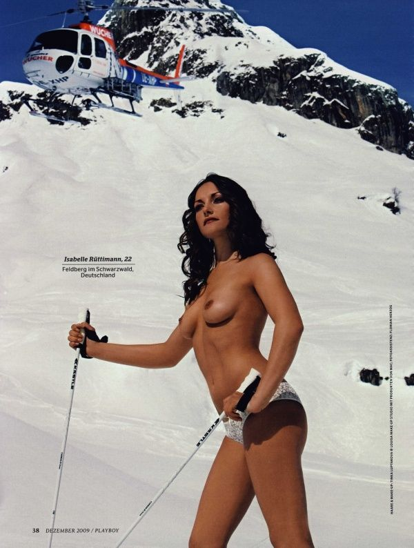 German female skiers in PLAYBOY - 06