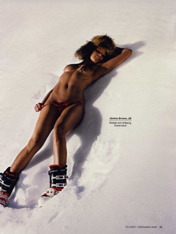 German female skiers in PLAYBOY - 07