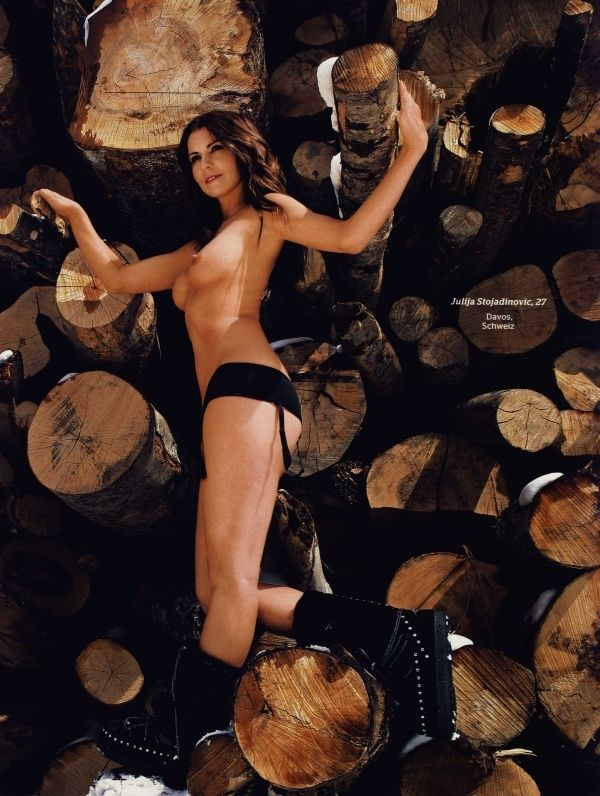 German female skiers in PLAYBOY - 08