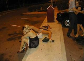 Dead drunk or harsh consequences of a weekend