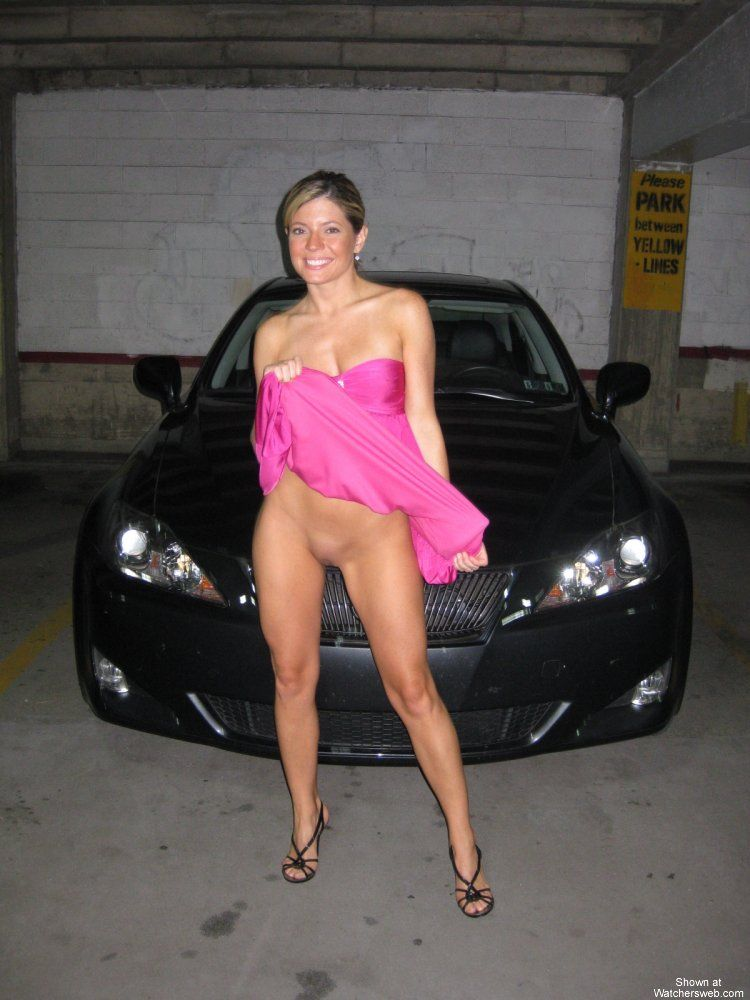 Amateur pictures of hot babes at a car - 03