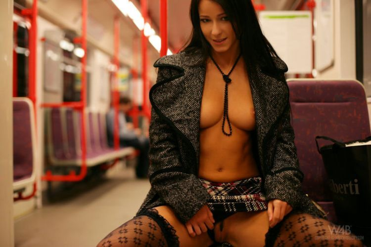 Beautiful Melisa posing nude in public places - 12