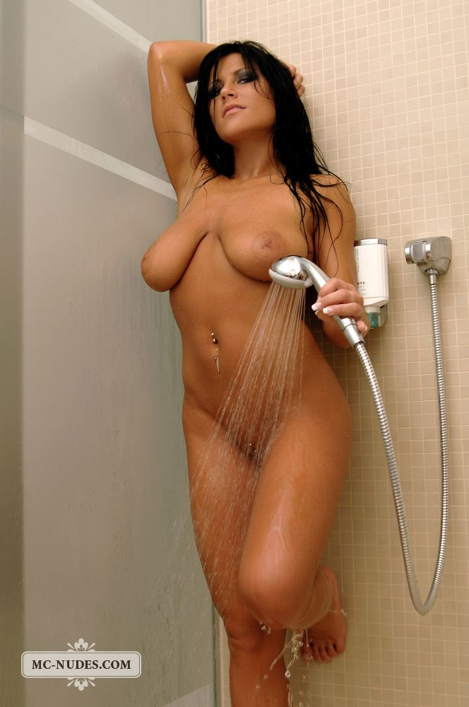 Busty babe Cindy taking a shower - 10
