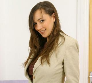 Sexy businesswoman Nadia