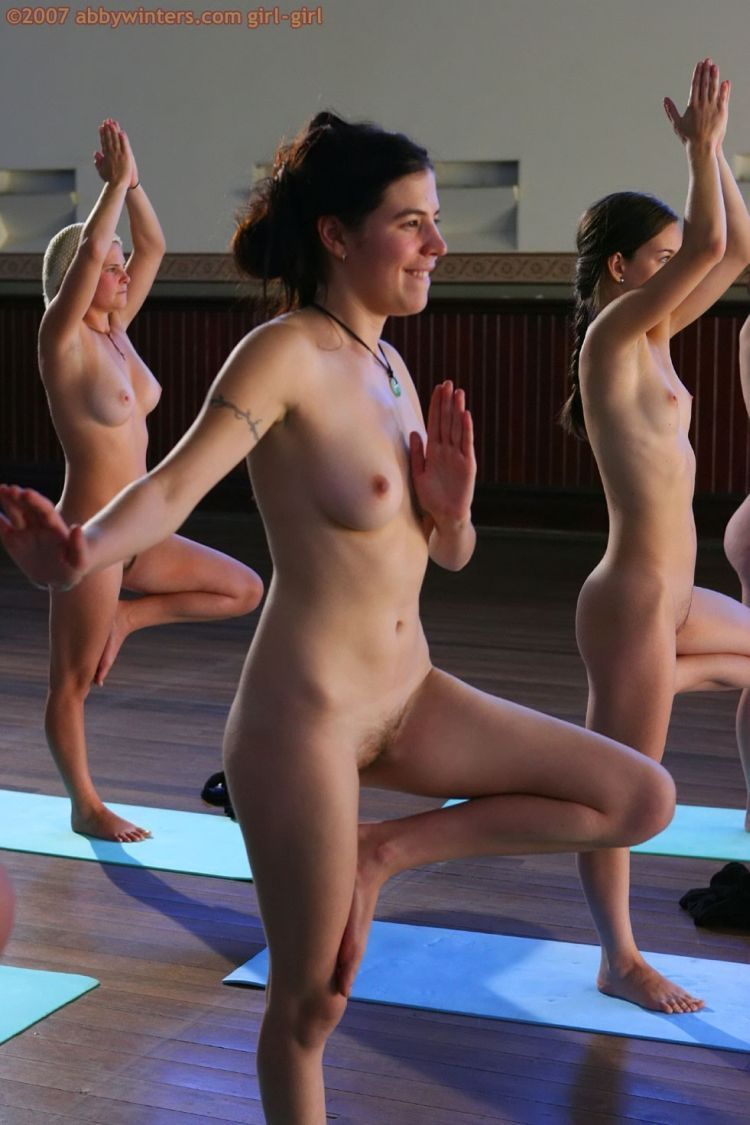 Naked girls do yoga - 10