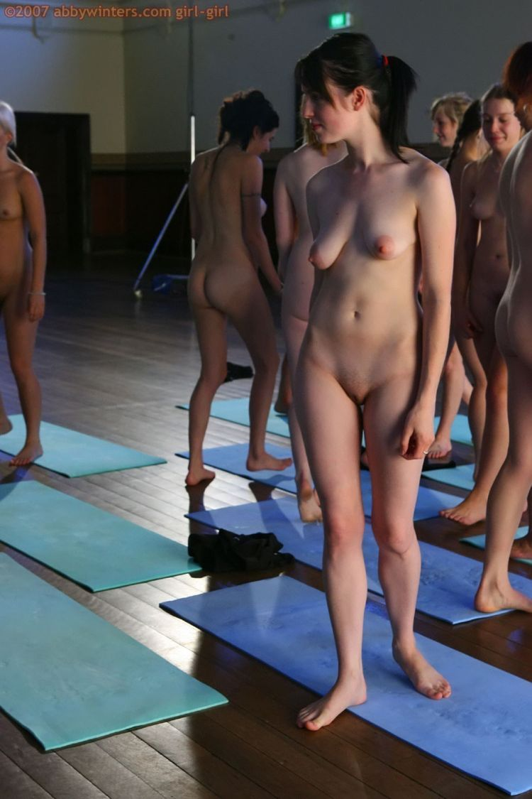 Naked girls do yoga - 14