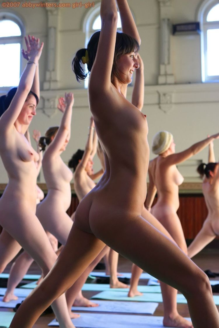 Naked girls do yoga - 16