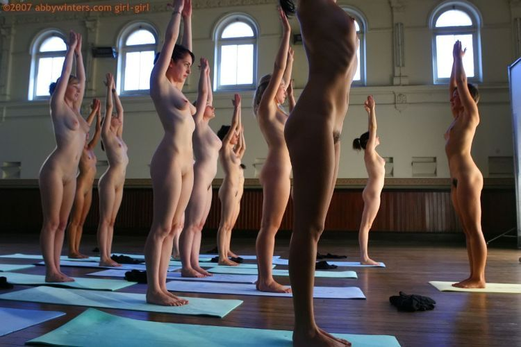 Naked girls do yoga - 17