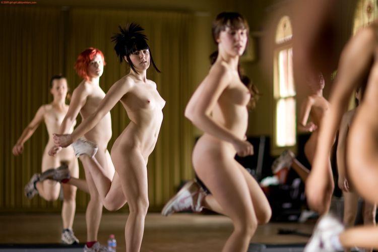 aerobics nude dance
