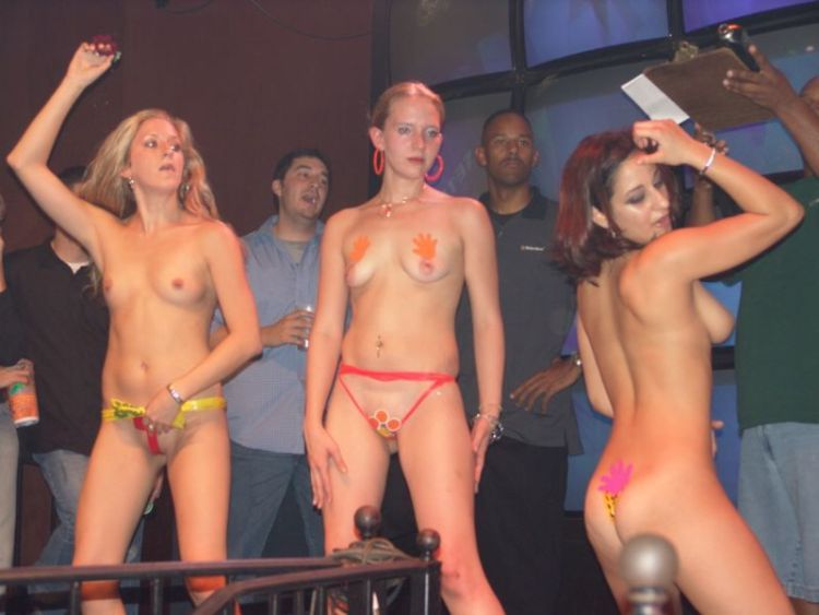 Female strip contest