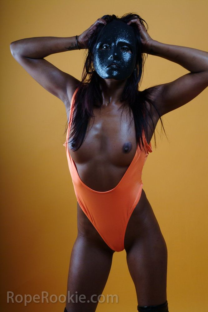 Indian hot muchacha in black mask - 01