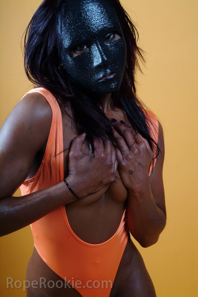 Indian hot muchacha in black mask - 03
