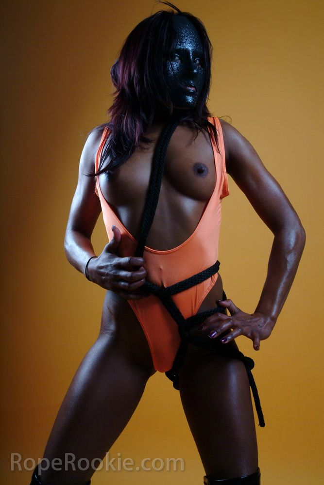 Indian hot muchacha in black mask - 06