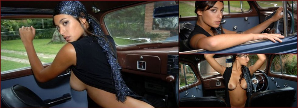 Chic muchacha and vintage car - 8