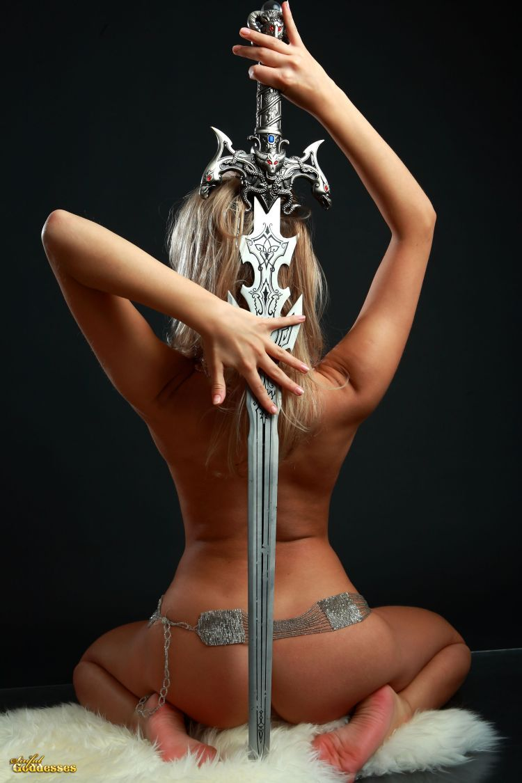 Blonde with killer tits and beautiful sword - 19