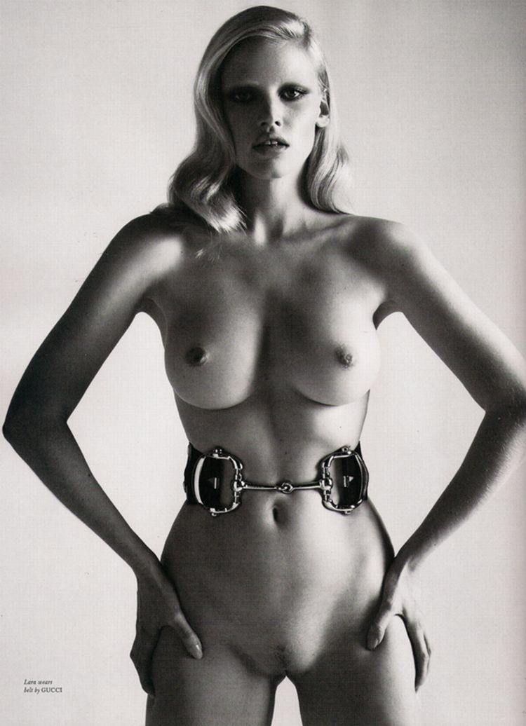 Nude supermodels in Love Magazine - 14
