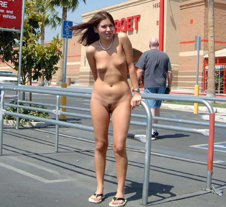 Naked amateurs in public