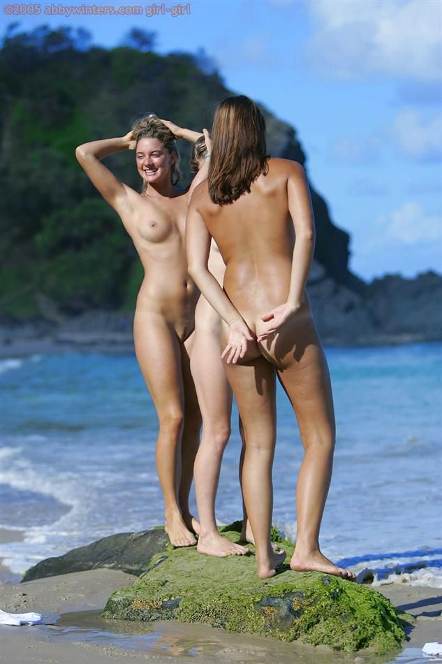 Sexy trio is having fun at the beach - 11