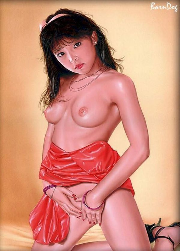 Sensual Asian girls in erotic drawings of Barn Dog - 01