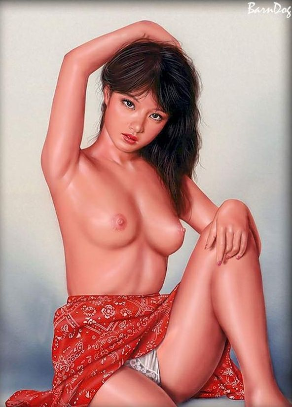 Sensual Asian girls in erotic drawings of Barn Dog - 06
