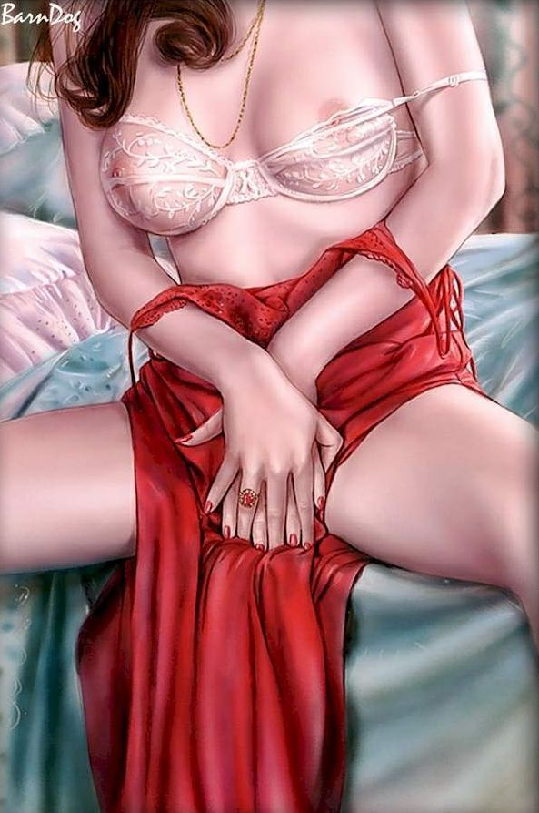 Sensual Asian girls in erotic drawings of Barn Dog - 10