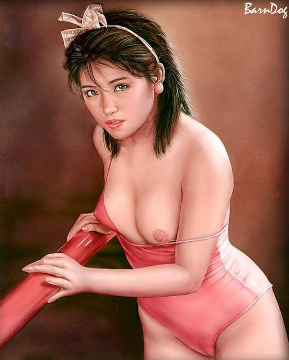 Sensual Asian girls in erotic drawings of Barn Dog - 12