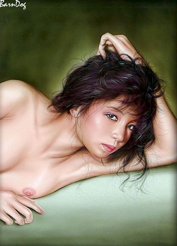 Sensual Asian girls in erotic drawings of Barn Dog - 15